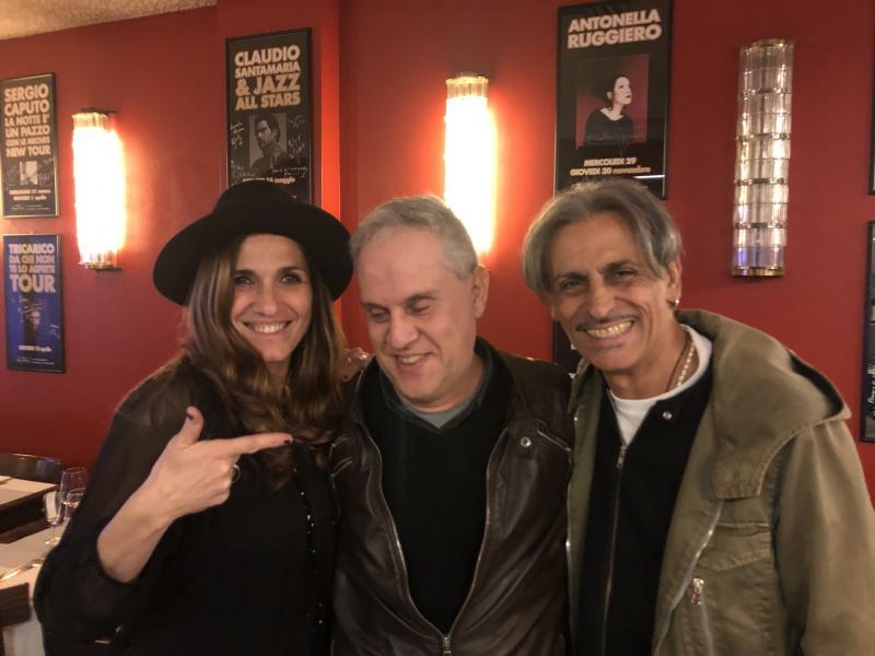 foto con Stefano De Donato e Simona Bencini al Bravo Caffè di Bologna